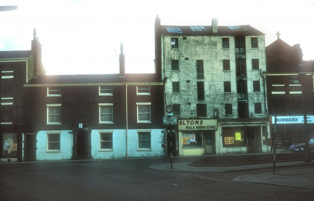 Spread Eagle and Mather Brothers (Printers), Lune Street (east side), Preston 1960