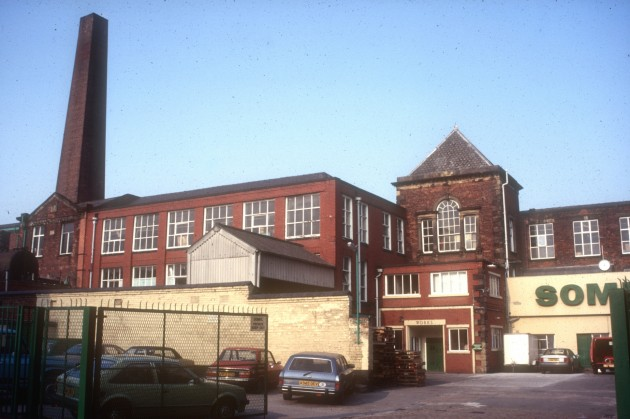 Somic Ltd Alliance Works (former cotton mill), New Hall Lane, Preston, 1985