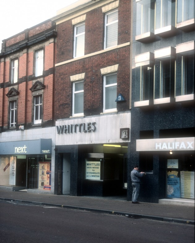 Next, Whittles and Halifax Building Society, Fishergate (north side, Preston 1989
