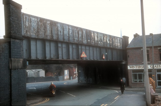 Bridge at Junction of Waterloo Road & Tulketh Brow, Ashton, Preston c.1983