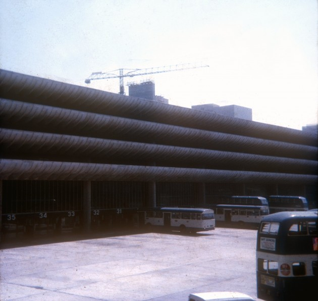 New Central Bus Station from Tithebarn Street, Preston 1971