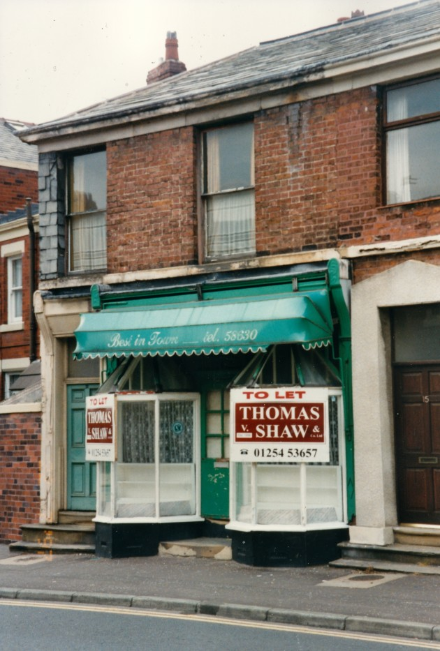 Confectioners shop, Avenham Lane, Preston September 1988