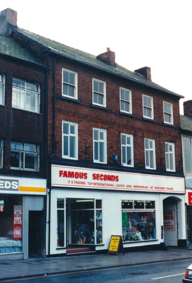 Shops on Friargate, Preston May 1988