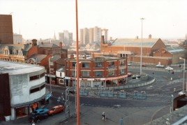Ormskirk Road and Ringway from Bus Station Car Park, Preston December 1987