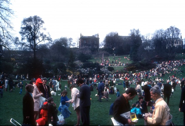 Easter in Avenham Park, Preston 1970