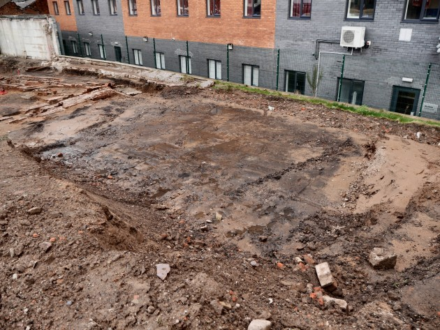 The site of what would have been a reservoir for the Back Lane Cotton Mill