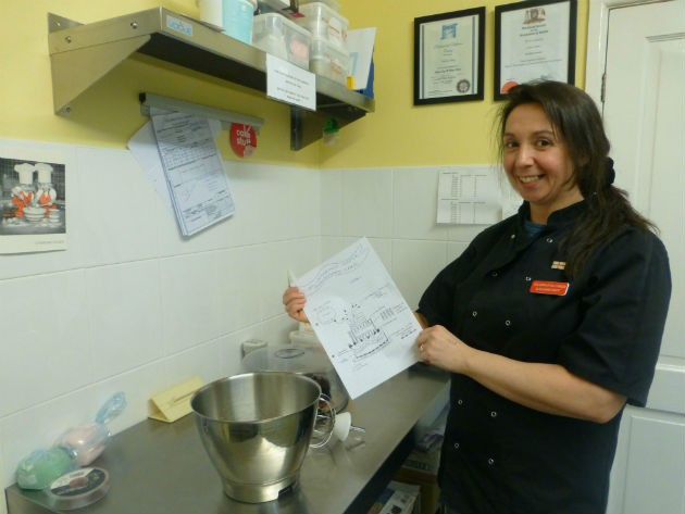 Andrea Ousby will be mixing up a treat for St Catherine's Hospice