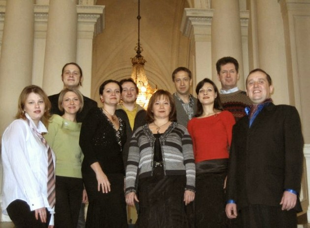 Some of the members of the Lyra Choir