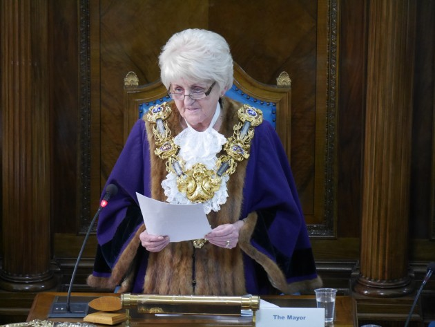 The new Mayor of Preston 2015, Councillor Margaret McManus,