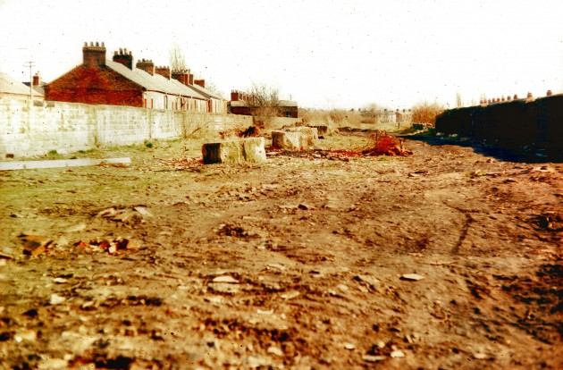 Site of former East Lancashire Railway line, off Fishergate Hill, Preston 1978