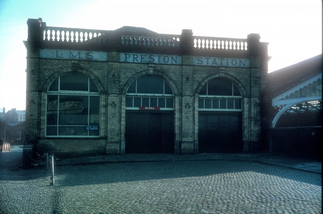 Former Lancashire & Yorkshire Railway Station entrance, Butler Street, Preston c.1978: Is this where you would board a train to Southport at one time?
