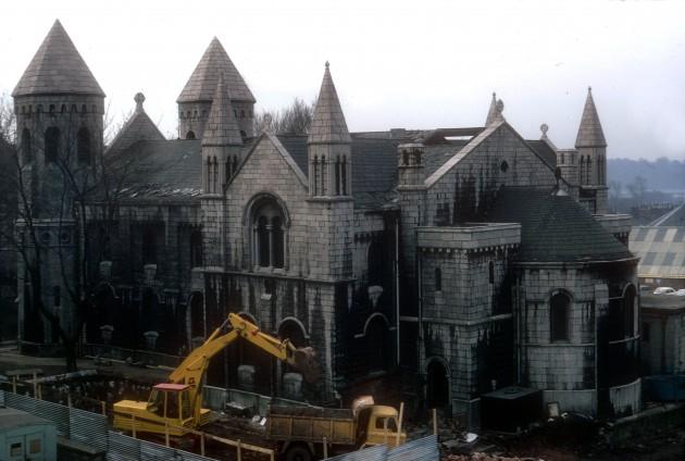 Demolition of Christ Church, Bow Lane, Preston 1971