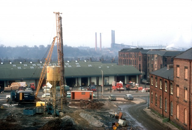 View from County Hall pror to building of extension, Preston 1971