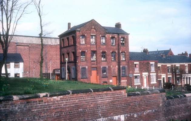 Rear of former Parish Church, Original part of Stoneygate, Preston 1979