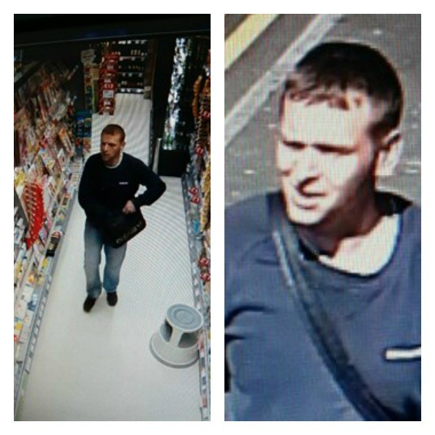 Police have released CCTV of a man wanted in connection with the theft