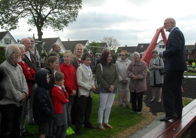 Volunteers and villagers gather to remember Mr Birbky