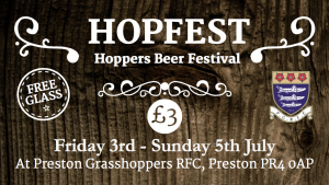 Hopfest, Preston Grasshoppers beer festival to be held this July