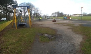 Moor Park play area in its current condition