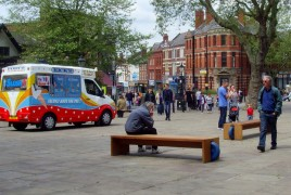 Having a break on the Flag Market Pic: Tony Worrall