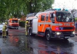 Fire crews at a previous call