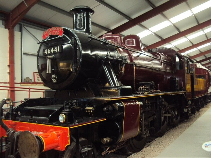 Get up close to old steam engines inside the Ribble Steam Railway museum