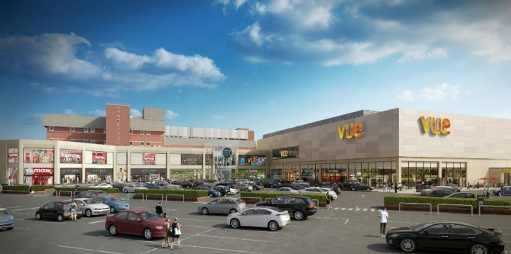 Artist impression of how the Vue Cinema may look at the Fishergate complex