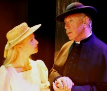 John Lyons (right) as Father Brown Pic: Eastbourne Theatre