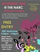 Join an evening of live acoustic performance at Preston College