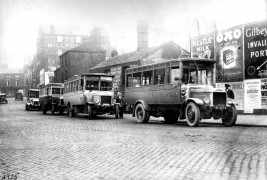 Bus stand in Corporation Street 1925.  Pic: Courtesy of John Fishwick and Sons