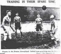 A cutting from the Lancashire Daily Post of the football team