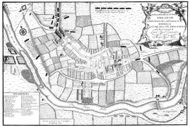 Battle Map of Preston 1715