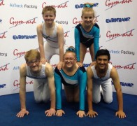 Some of the trampoline team