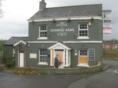 Nadeem Sadiq outside the Shawes Arms