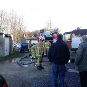 Fire crews in Victoria Road on Sunday morning