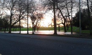 The new 'lake' in Moor Park