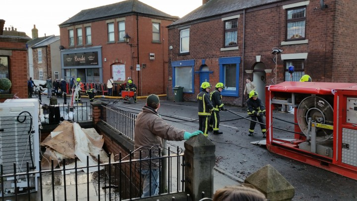 Fire crews at work in Croston