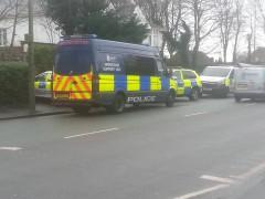 Police presence in Ribbleton Avenue Pic: Danny Kay