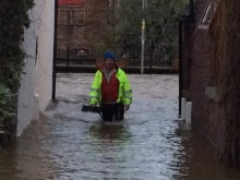 The depth of water in Croston during Boxing Day and Sunday
