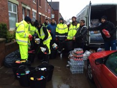 Volunteers delivering the aid parcels in Cumbria