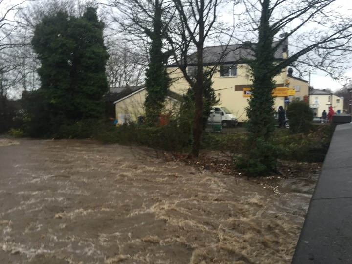 River Darwen running high in Higher Walton Pic: Stephanie Houghton