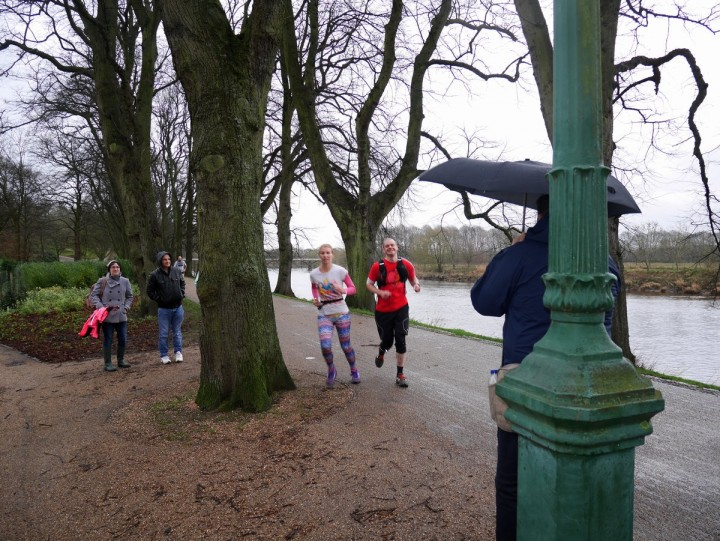 Ben Ashworth at his first Cheeky Santa Dash in 2015 on the section of the Guild Wheel which should be named after him