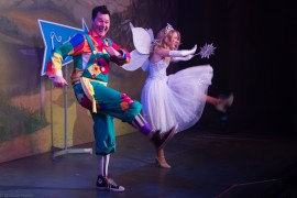 Phil Walker as Silly Billy and Hayley Hassall as The Good Fairy.  Pic: Photgrapher Michael Porter