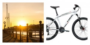 Preston Docks where the incident happened and a bike similar to the one taken Pic of Docks: Gary Bond
