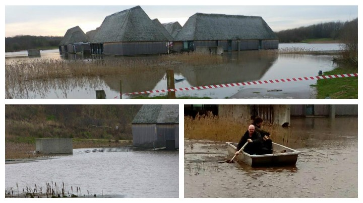 The extent of the flooding at Brockholes Pics: Terry Jolly