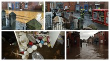 Flooding scenes in Croston from Boxing Day onwards
