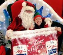 Emma Russ and Santa at the St Georges grotto