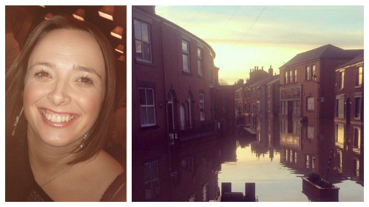Sarah Pattison, left, who has started the fundraising campaign to help flooded Croston
