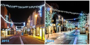 How the Christmas lights compare... Pic: Paul Melling/Shabbagaz