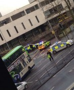 Police on the Ring near Market Hall car park. Credit: Ella Worthy