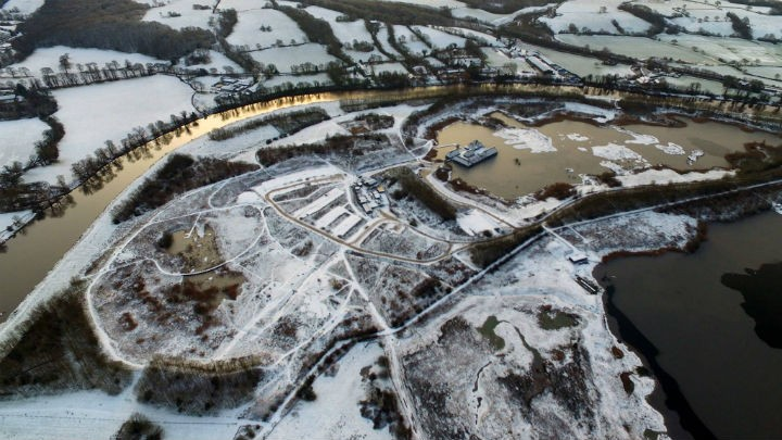 Brockholes Nature Reserve in the snow Pic: Stephen Melling